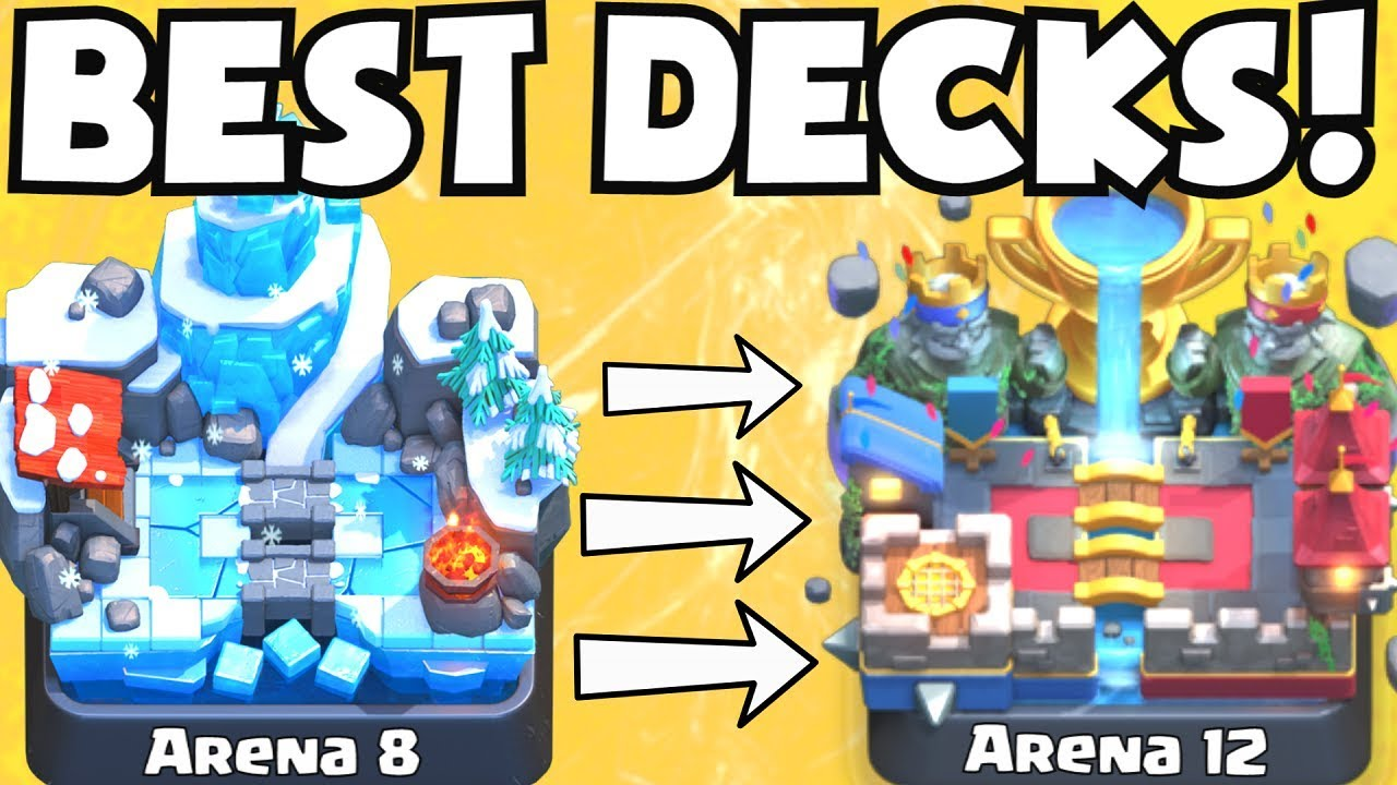 Clash royale best arena 8 arena 12 decks undefeated for Clash royale deck arc x