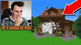 I accidentally *BLEW UP* someone's Minecraft House...