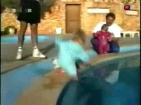 Cat Throwing A Boy In Swimming Pool Youtube