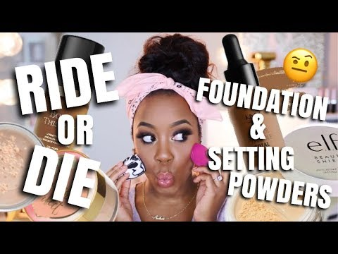 CURRENT HOLY GRAIL FOUNDATIONS AND SETTING POWDERS | DRUGSTORE & HIGH-END | Andrea Renee