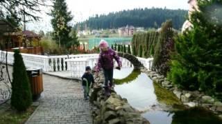 #Отель Три сына и Дочь/ #Сходница / #Карпаты / Видео для детей(Сегодня мы покажем территорию #отеля