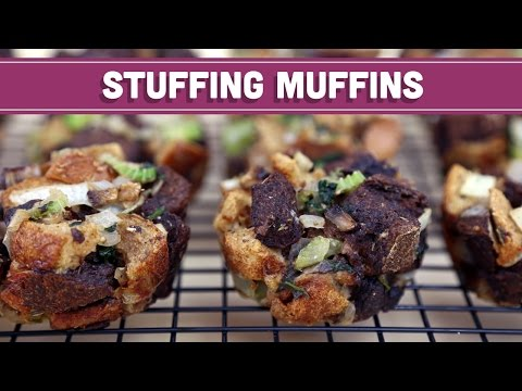 Stuffing Muffins: Thanksgiving/Christmas Recipe! Mind Over Munch