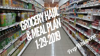 WW Grocery Haul and Meal Plan - 1/29/19