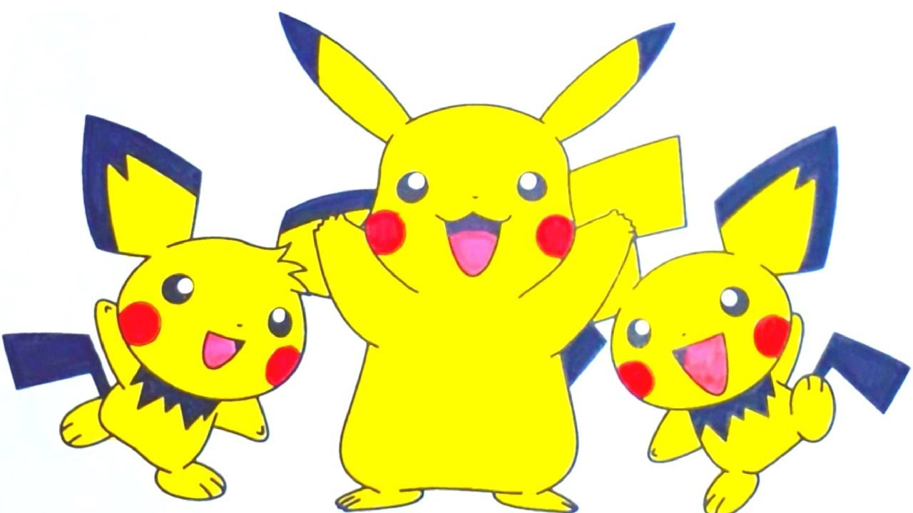 Coloring Pages for Kids : Pokemon Pikachu - YouTube