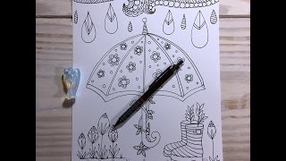 umbrella/rainboots -  drawing/doodle