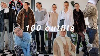 100 OUTFITS FOR WINTER | winter 2020 lookbook with rachspeed