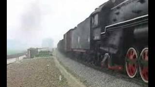 中国CHINA山東省 QJ STEAM LOCOMOTIVE2-10-2蒸気機関車+DL(SL変則重連付)