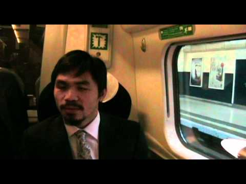 Manny Pacquiao does a Scottish accent during an interview