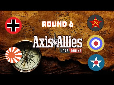 Axis & Allies 1942 Online: Fight for Russia! - Round 6 vs Manix |
