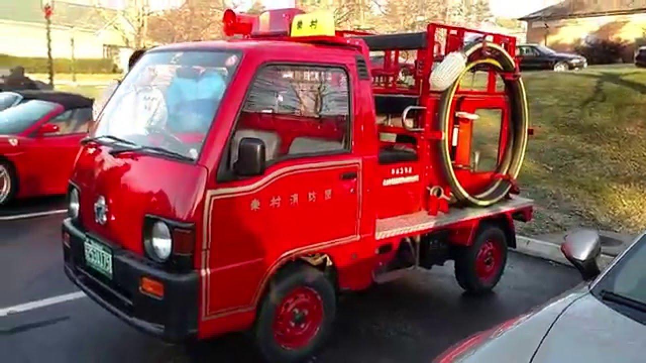 Tiny Trucks Tiny Micro Japanese Fire Truck By Drivin Ivan Youtube
