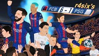 vuclip Parodia animada del Barcelona 6-1 PSG de Champions League 8/3/2017