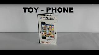 Телефон игрушка айфон TOY-PHONE. Детский игрушечный телефон iPhone