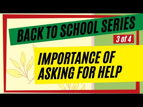 Back to School: Importance of Asking for Help
