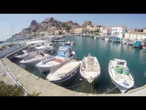 Dancing boats - Myrina, Limnos, Greece (timelapse)
