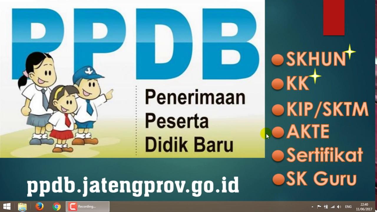 Tuturial Ppdb Online Sma Smk Jawa Tengah