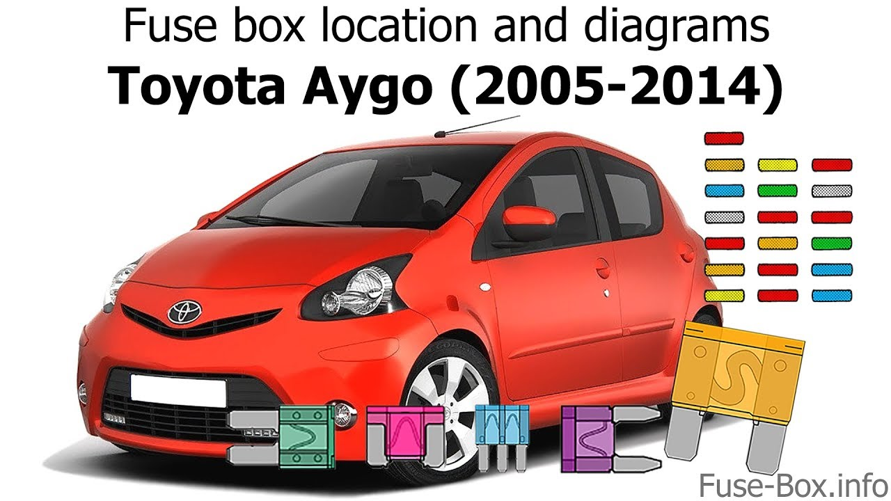 fuse box location and diagrams toyota aygo 2005 2014  [ 1280 x 720 Pixel ]