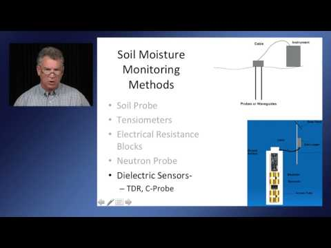 Soil Moisture Monitoring and Utilization During a Drought