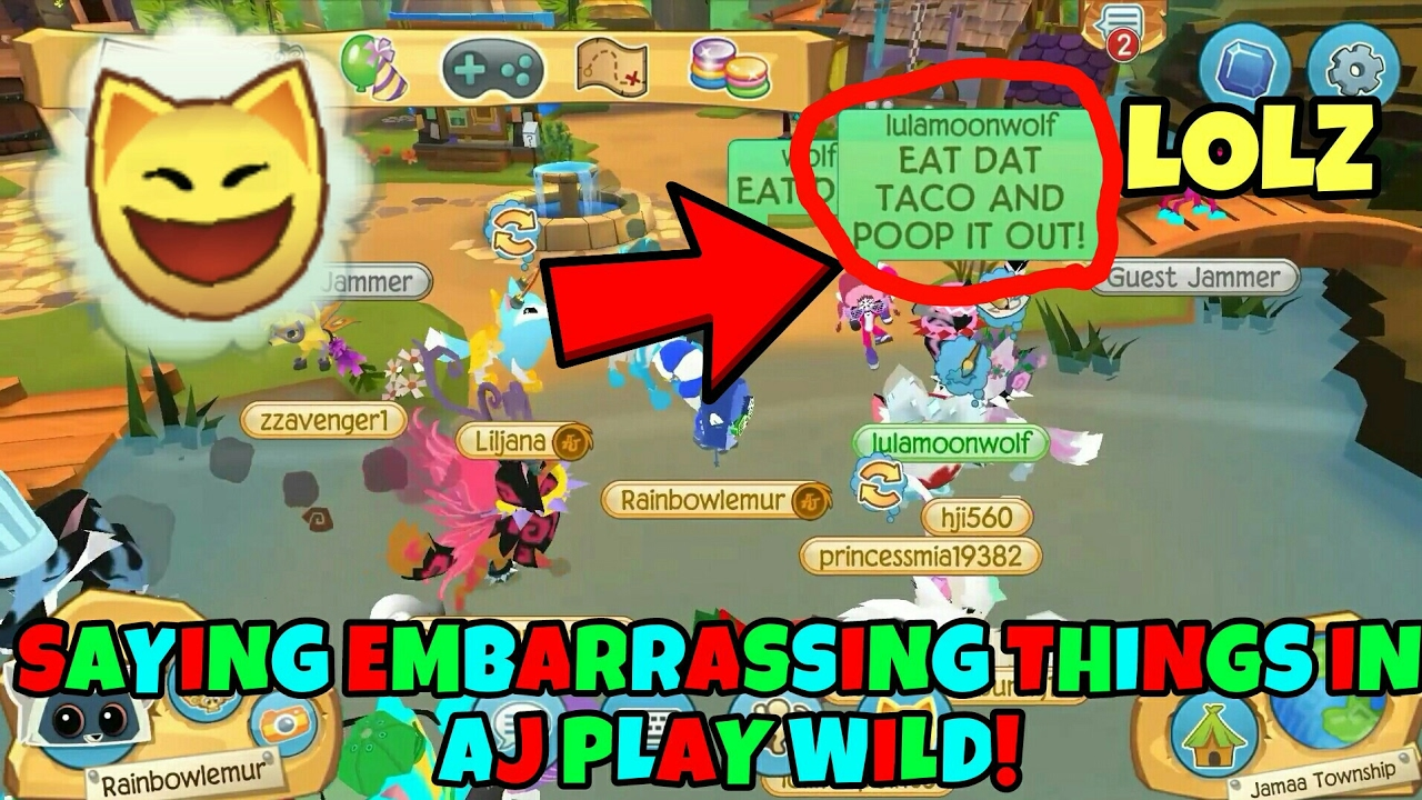 Saying Embarrassing Things In Animal Jam Play Wild Youtube