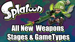 Splatoon Multiplayer - All New Weapons, Stages & Gametypes