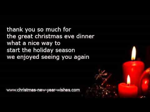 Christmas thank you poems with appreciation - YouTube