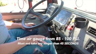 Tulsa CDL Truck Rental Air Brake Test