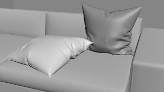 3Ds MAX. Создание 3d модели подушки модификатором Cloth. 3d моделирование видео урок для начинающих