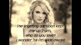 Repeat youtube video Taylor Swift Enchanted Lyrics