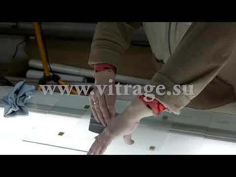 Установка пленки на стекло и удаление пузырей. Видеоуроки по изготовлению витражей.