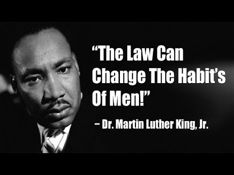 martin luther king and unjust laws Free at last: martin luther king, jr and nullification i would agree with saint augustine that an unjust law is no law at all -rev dr martin luther king.