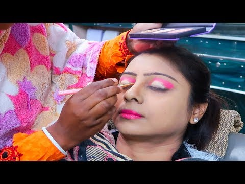 First Experience of Bridal Makeup in a Village Beauty Parlor || Experiment went Well or Wrong???