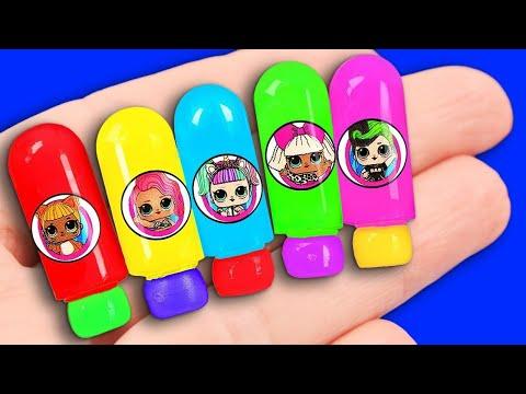 12 DIY Barbie Hacks: miniature headphones, lip gloss, soap bottle, and more!