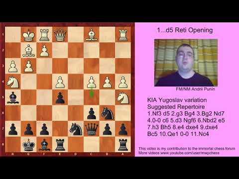 Chess - KIA Yugoslav variation (for black) - 7.h3 Bh5 8.e4 dxe4 9.dxe4 Bc5 10.Qe1 0-0 11.Nc4