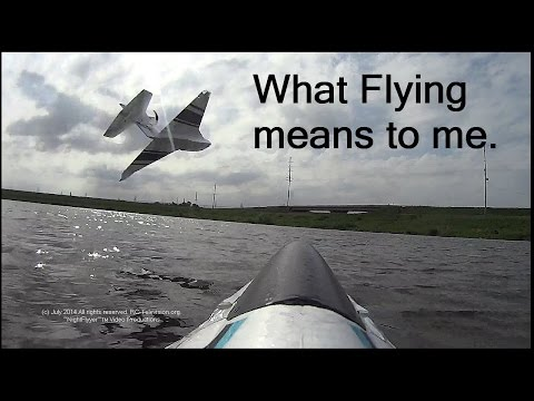 What FLYING means to me. Antique Bipe, Seaplane Chase,  Flying only Version II.