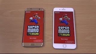 Samsung Galaxy S7 Edge vs iPhone 7 Plus Super Mario Run - Gaming Comparison!