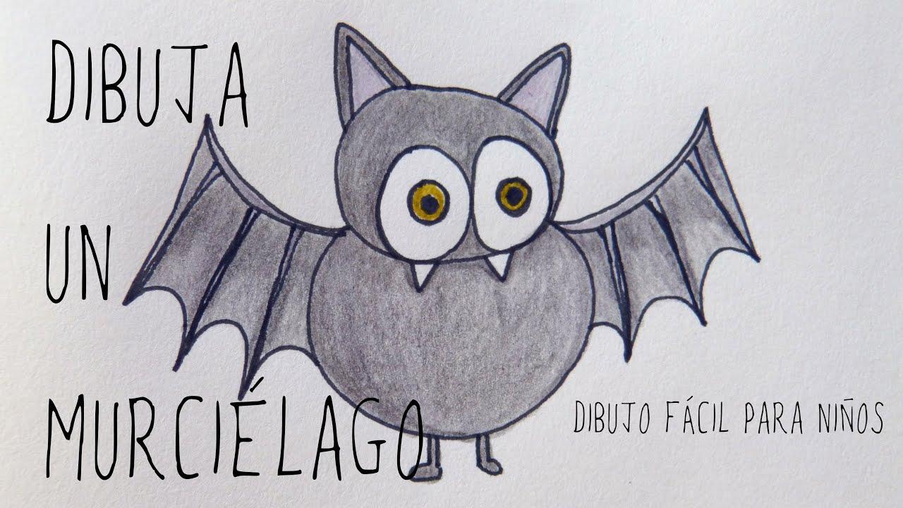 Murci lago dibujo f cil para ni os halloween youtube - Dibujos infantiles halloween ...