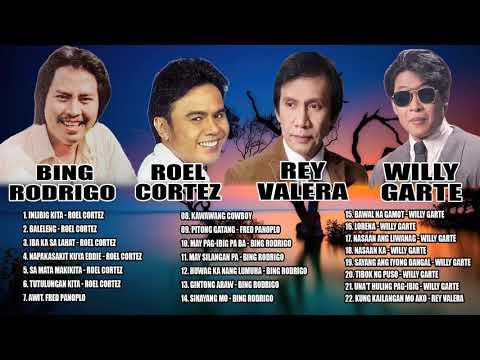 Download Willy Garte, Bing Rodrigo, Roel Cortez, Rey Valera TAGALOG MELLOW SONGS   All Time Favourite