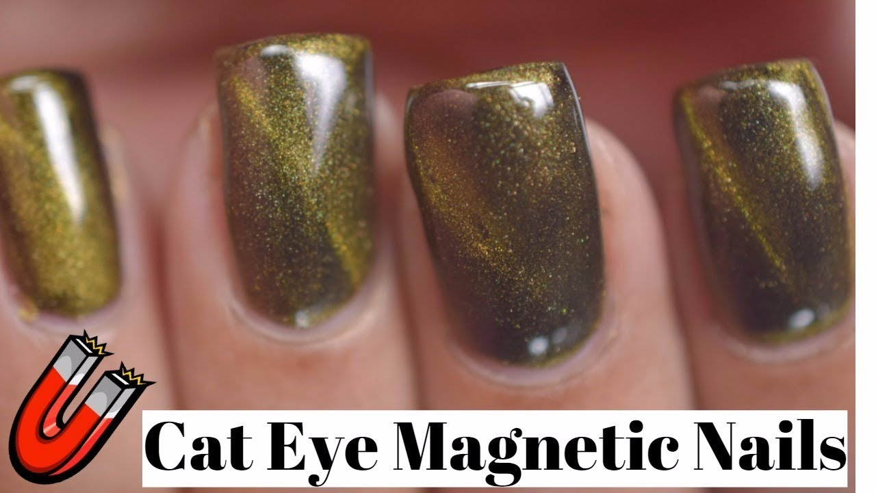 How to apply Cat Eye Magnetic Nail Powder - YouTube