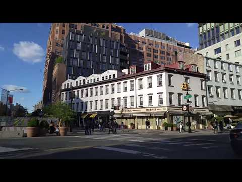 Driving from Greenwich Village to Chelsea in Manhattan,New York