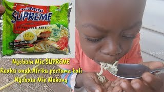 Reaksi Anak Anak Afrika makan Mie Sedap Soto & Lanjut Joget DJ Haning