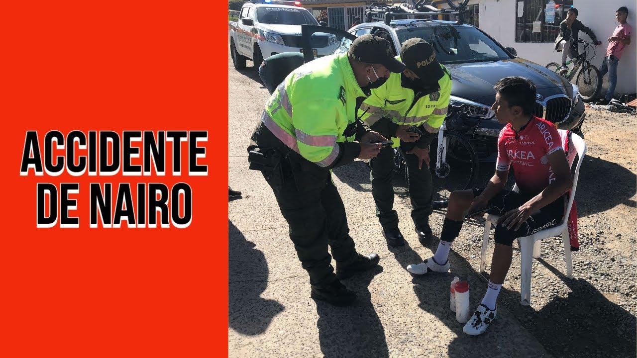 🚨 Nairo Quintana sufre un accidente durante un entrenamiento