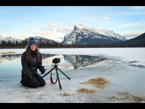 Winter landscape photography at Vermillion Lake in Banff, Alberta