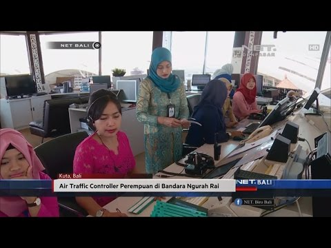 NET. BALI - AIR TRAFFIC CONTROLLER PEREMPUAN DI BANDARA NGURAH RAI