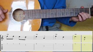 Katyusha - Guitar Lesson TAB. Notes. Chords. Катюша на гитаре. Мелодия.Ноты. Табы. Аккорды.