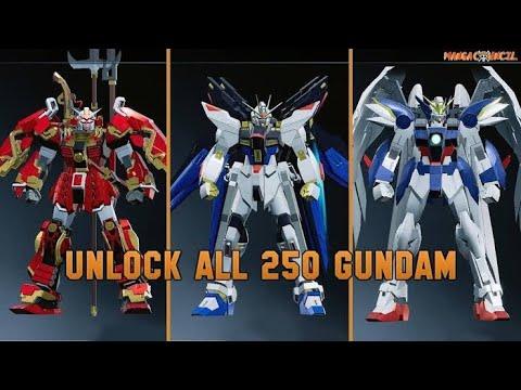 New Gundam Breaker Unlock All 250 Gundam | Save Game (2020)