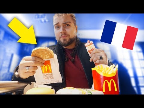 O que comem no McDonald's de PARIS?