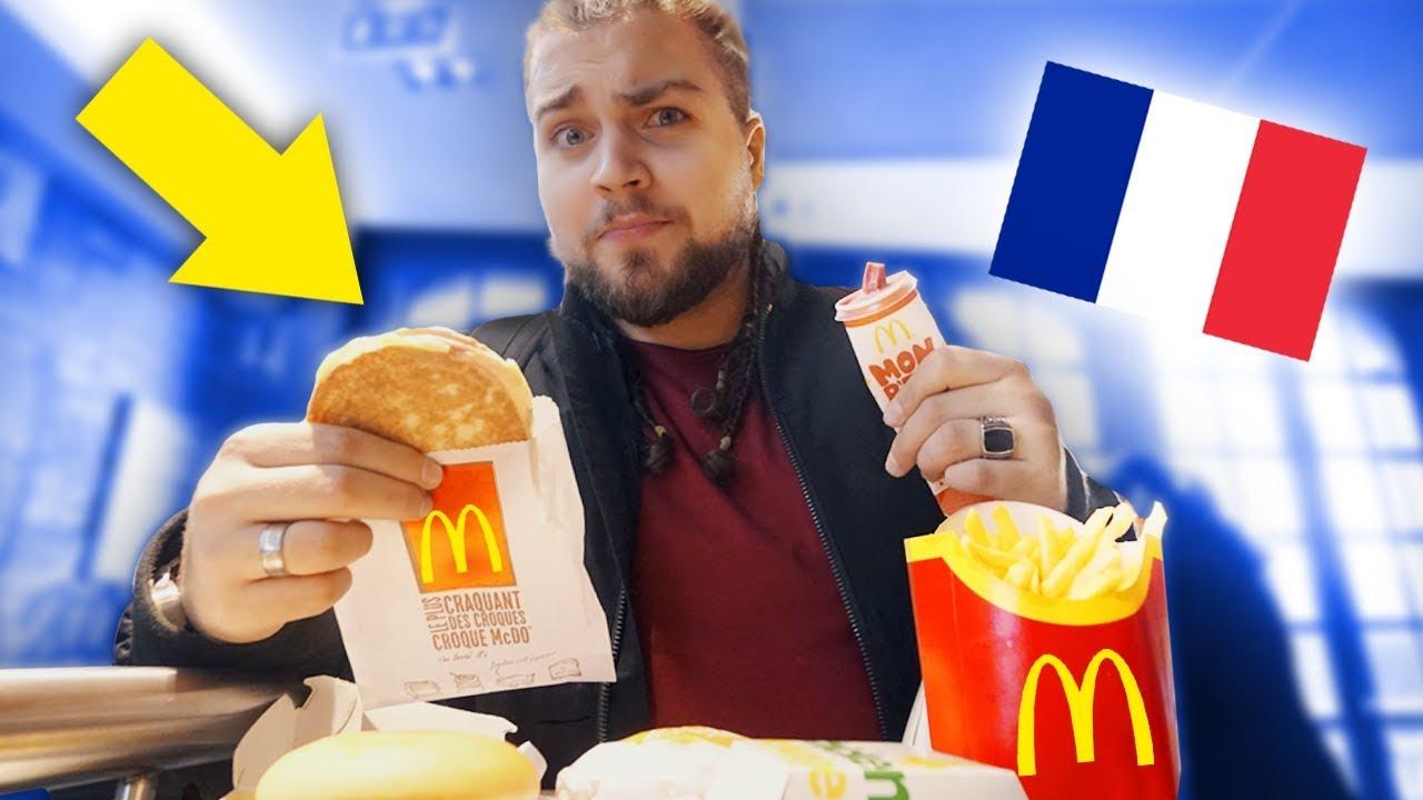 O que VENDEM no McDonald's de PARIS?