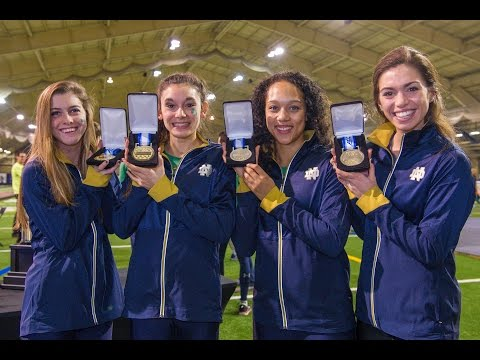 Instant Reaction - Notre Dame Track and Field - ACC Distance Medley Relay Champions