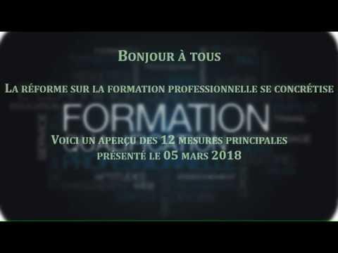 Vidéo Réforme de la Formation Professionnelle 2018