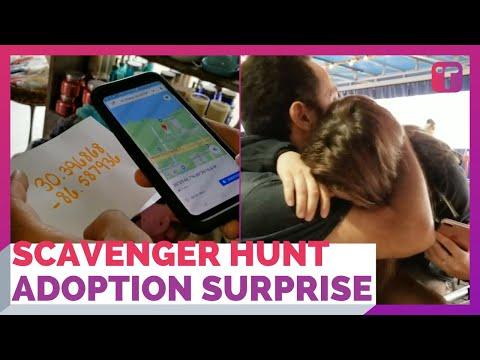 Birthday Scavenger Hunt Surprise Adoption