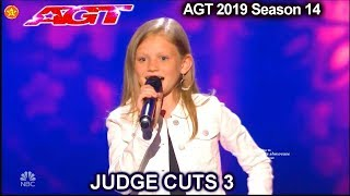 Download lagu Ansley Burns 12 yo SINGS 2nd HALF Good Girl ACAPELLA AWESOME America s Got Talent 2019 Judge Cuts